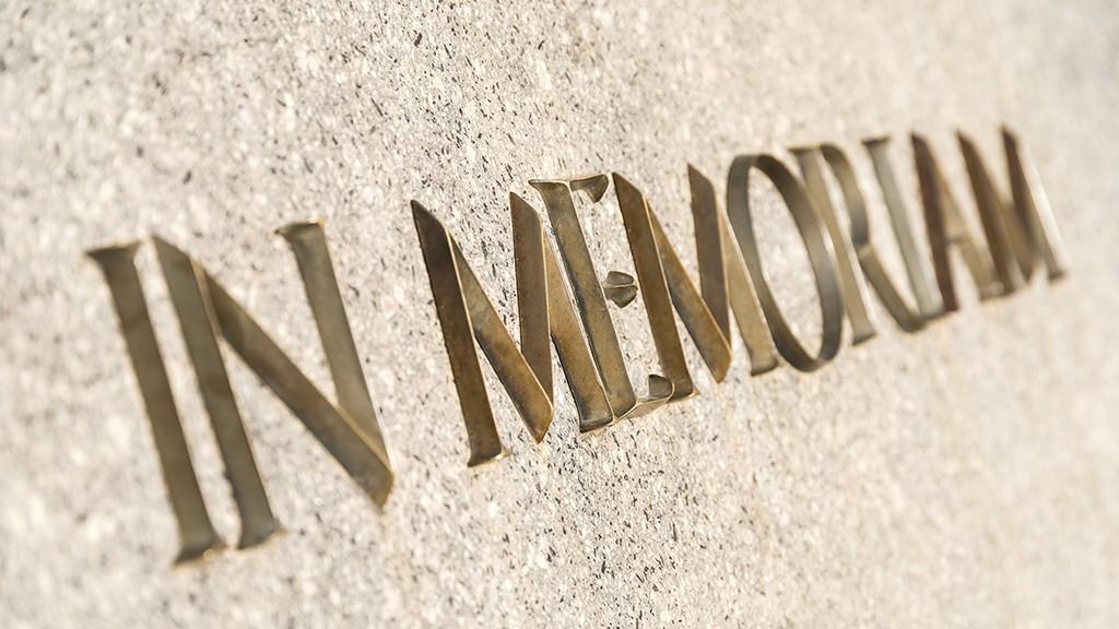 In Memoriam slate