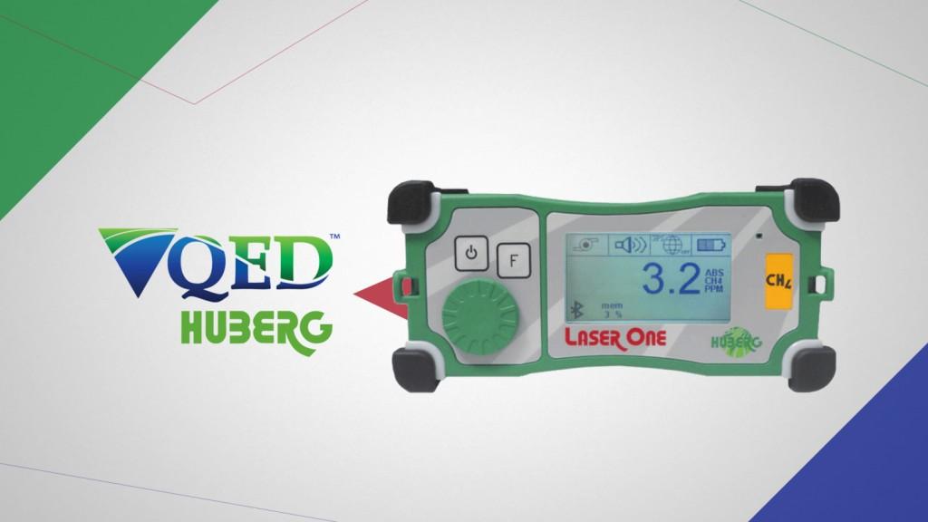 QED Huberg Laser One gas analyzer