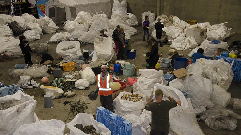 Ocean Legacy debris sorting