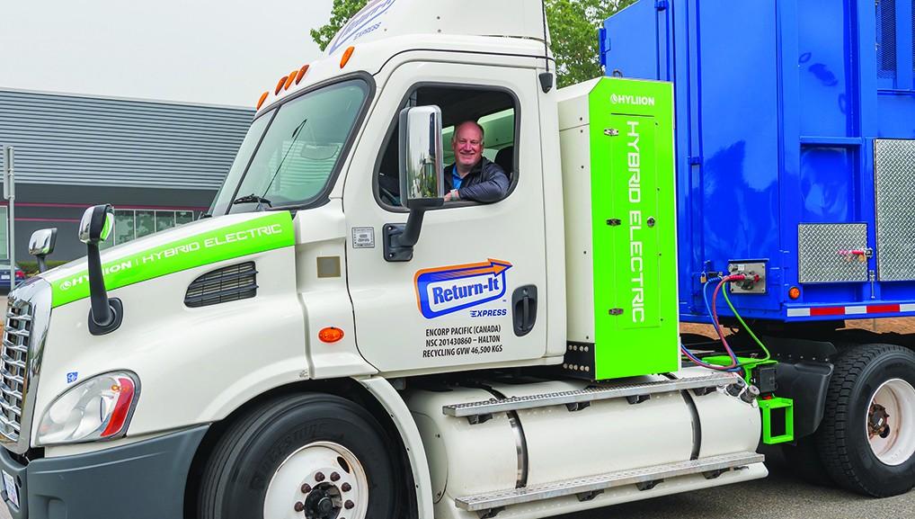 Allen Langdon in a Return-It truck