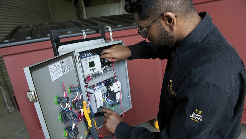 Metro Compactor maintenance at work