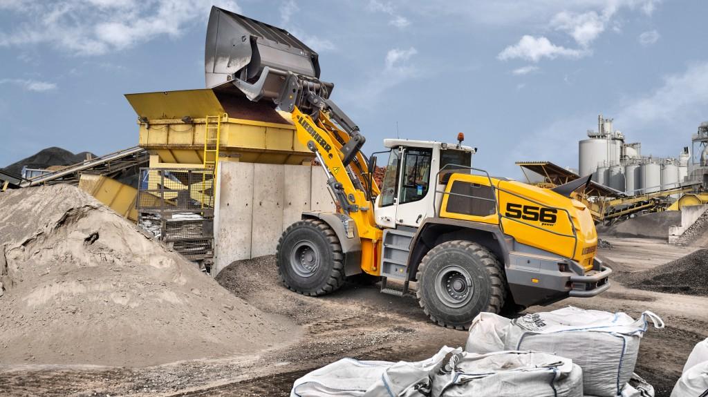 liebherr l556 wheel loader xpower high dump bucket