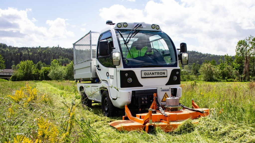Quantron q elion m series equipment carrier in a field