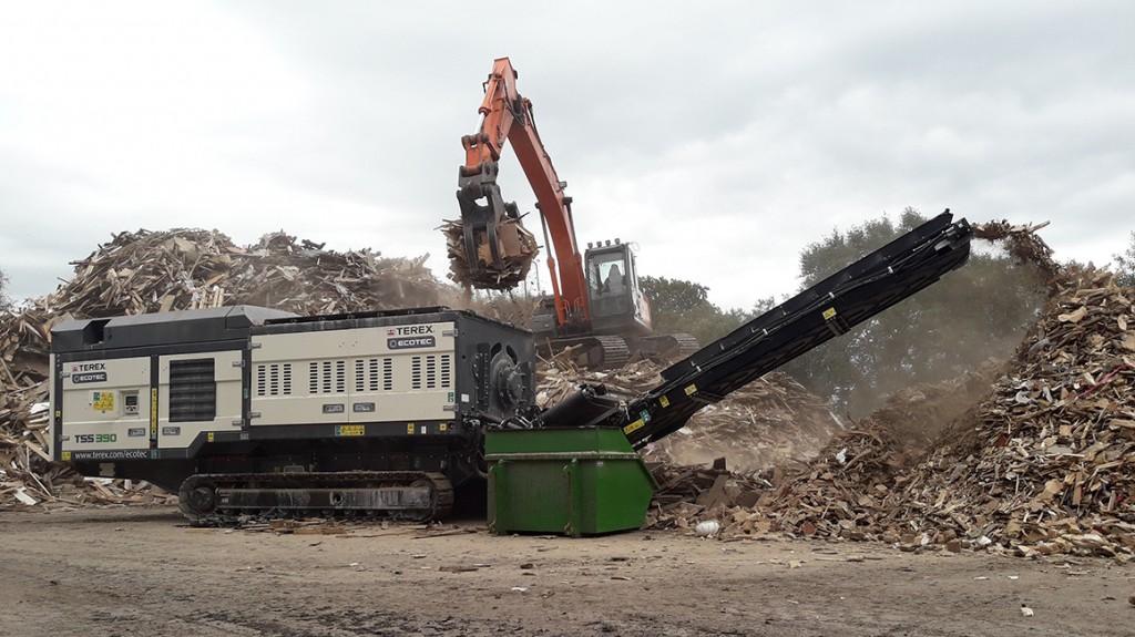 frontline machinery terex ecotec tss 390 shredder