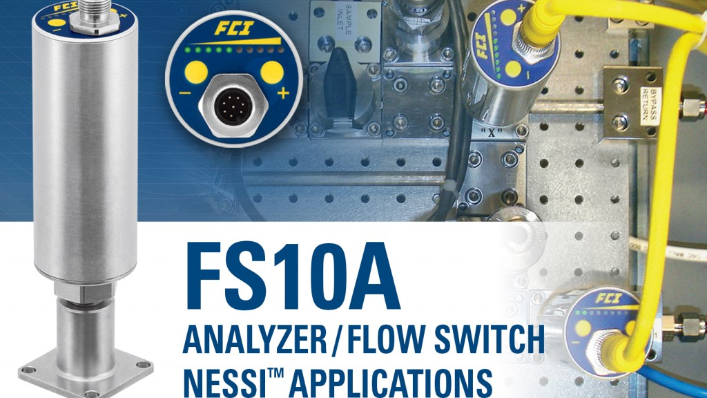 Compact flow switch/monitor easily incorporated into analyzer systems