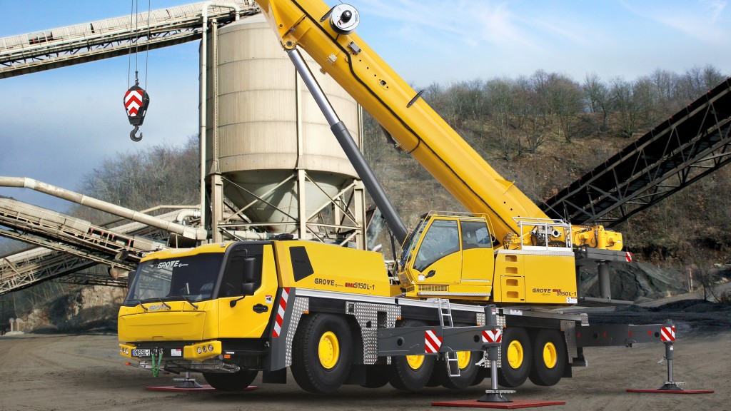 manitowoc carrier cab on four and five axle grove GMK5150L all-terrain cranes
