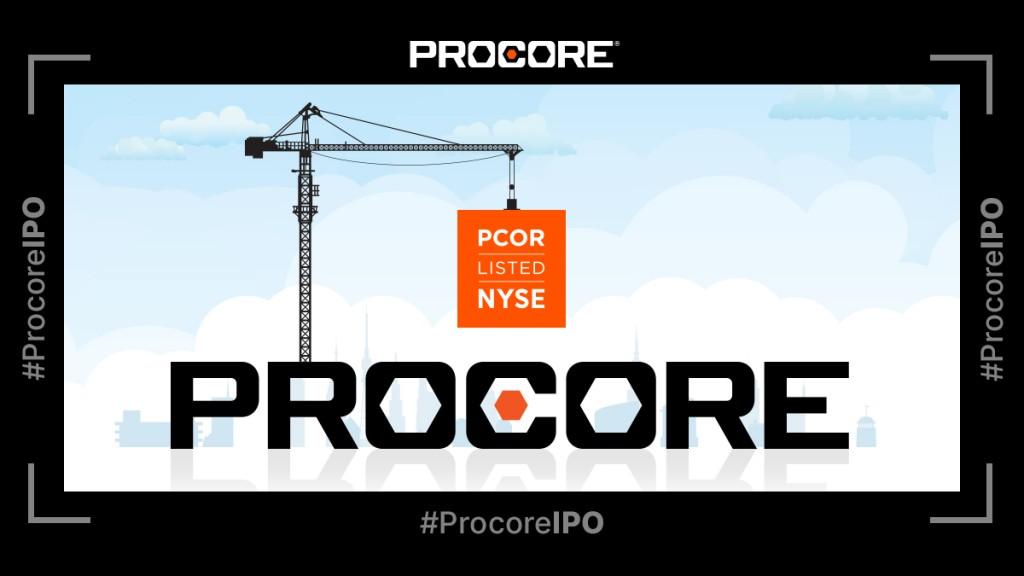 Procore IPO announcement illustration