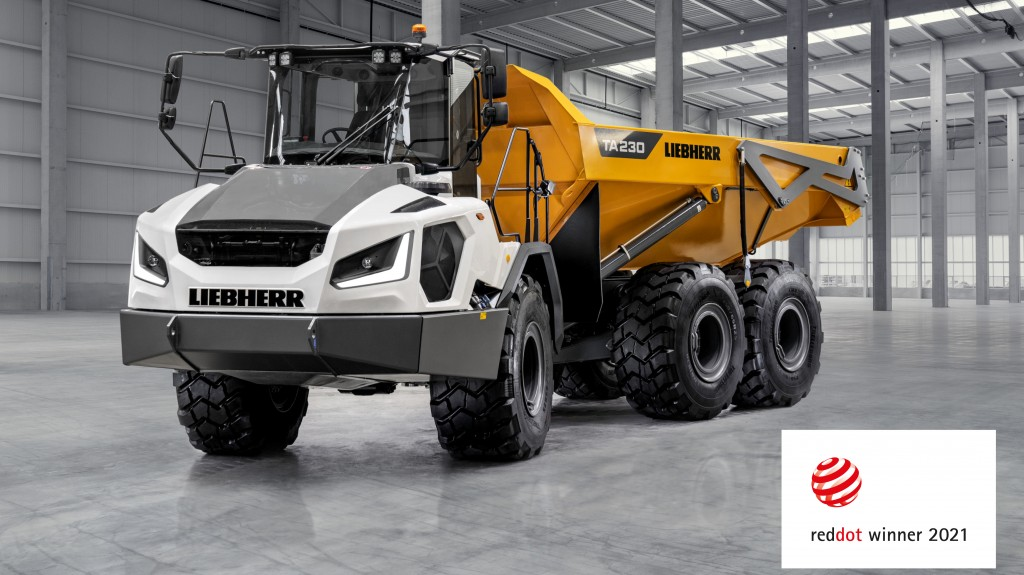 Liebherr's TA 230 Litronic articulated dump truck.
