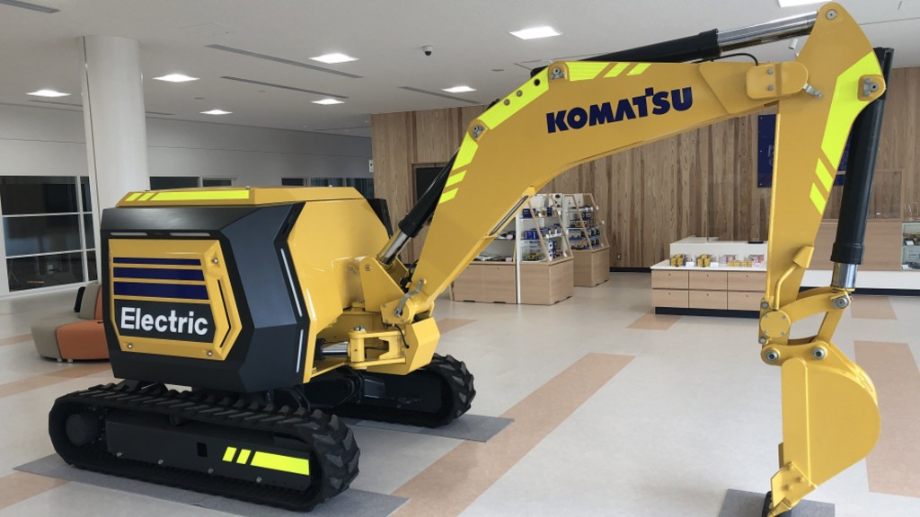 Komatsu electric mini excavator