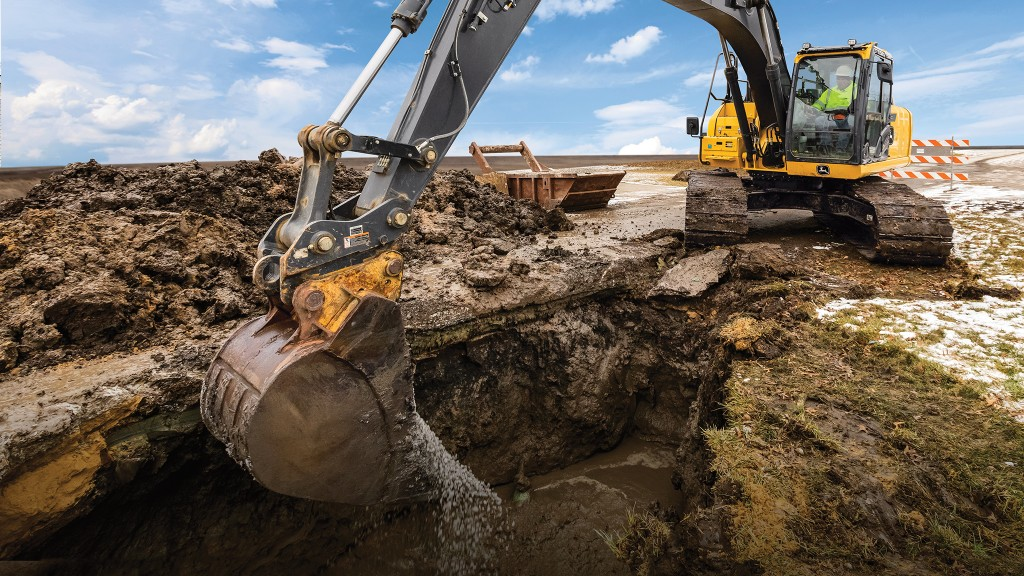 Initially, two excavator models are available with factory-installed SmartGrade.