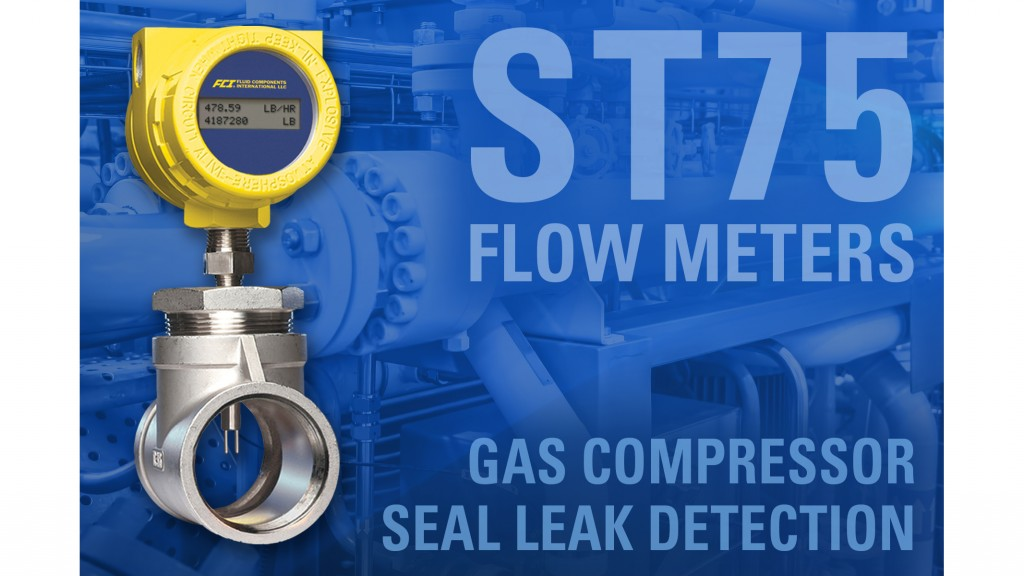 Seal leak monitoring flow meter helps keep gas compressors safe and efficient