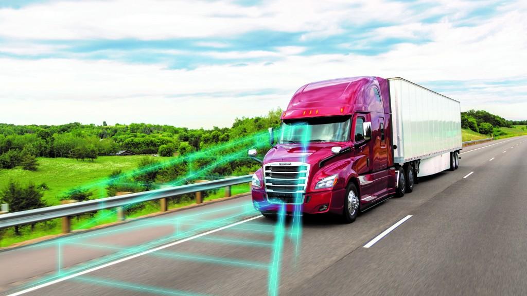 freightliner vocational truck on highway