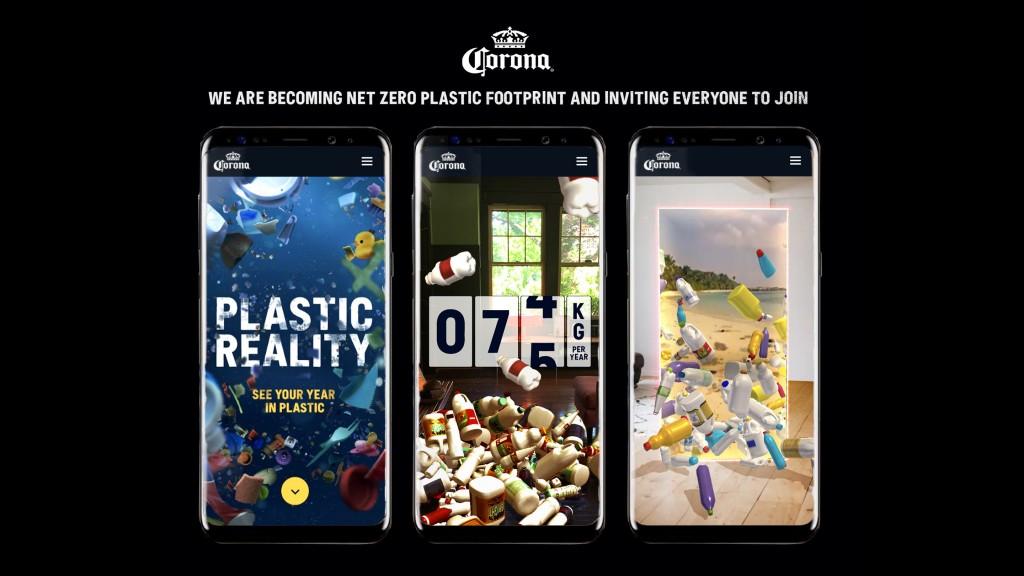 corona net zero plastic banner