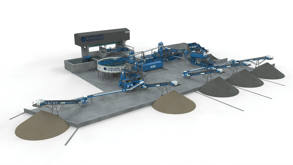 CDE wet processing plant schematic