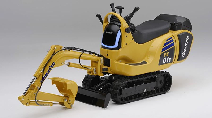 A electric Komatsu mini excavator prototype