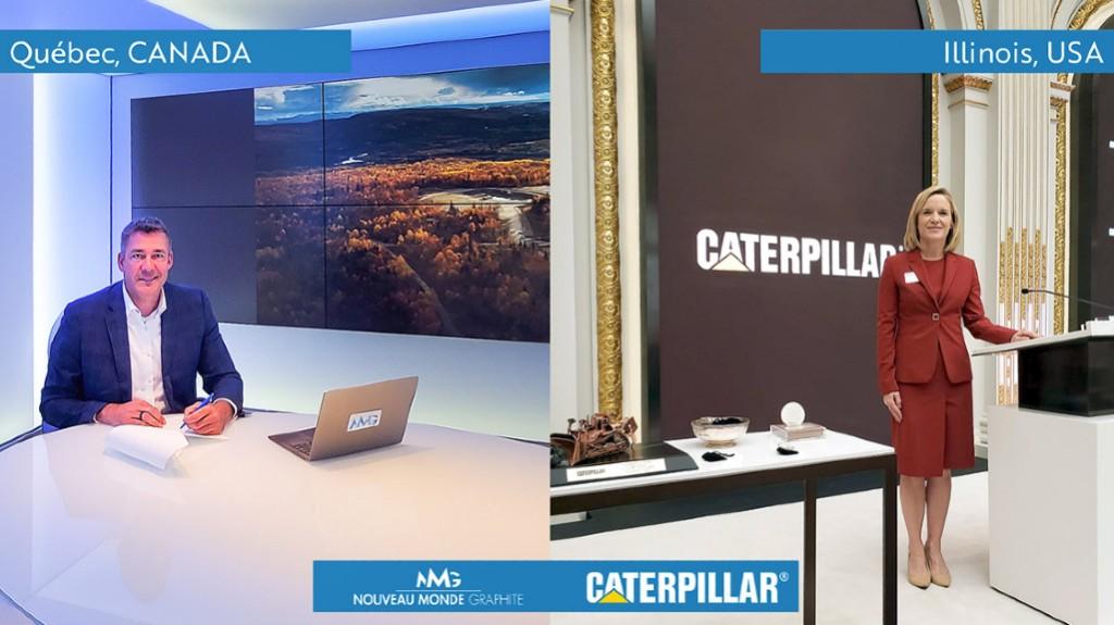 Caterpillar and Noveau Monde executives