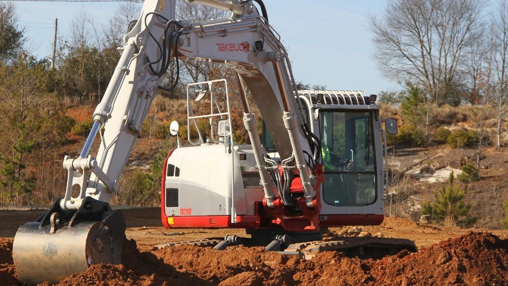 Takeuchi's TB2150 on the job site