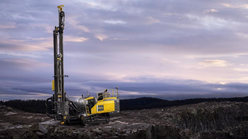 The Epiroc SmartRoc D65 drill rig