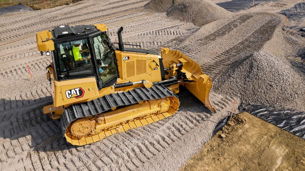 The Cat D4 bulldozer on the job site