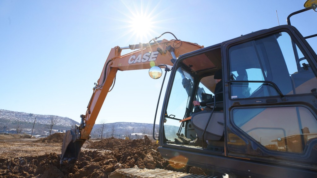 A OEM-Fit fitted excavator on the job site