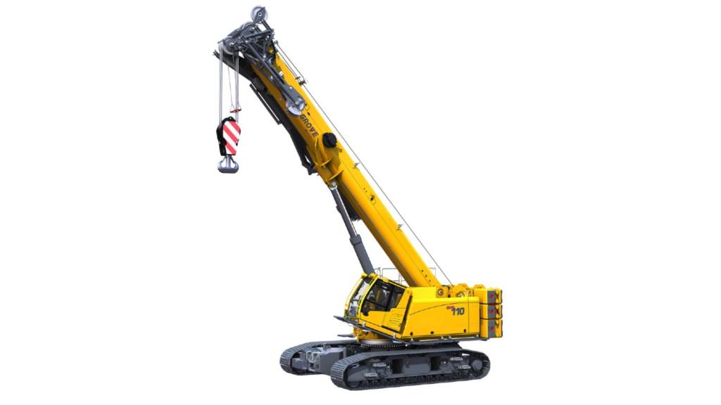 The Grove GHC110 telescopic crawler crane