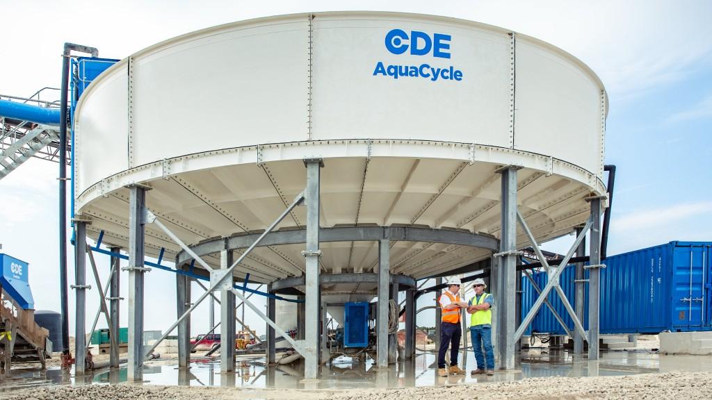 A CDE AquaCycle sand washing plant