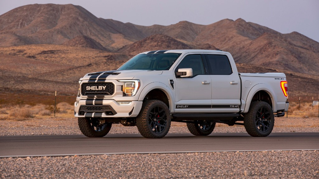 Shelby F-150 truck on the road