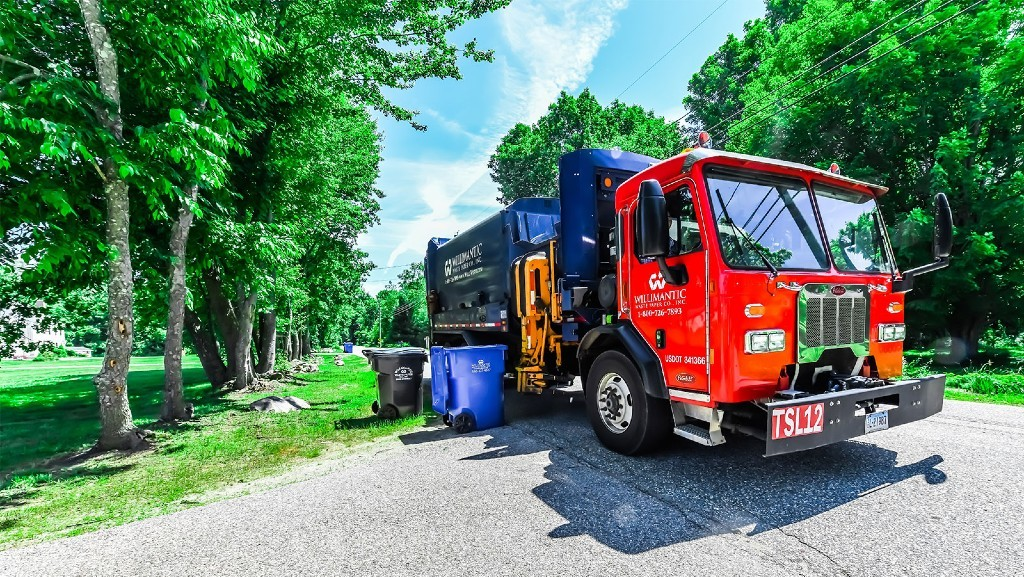 Willimantic waste collection  vehicle
