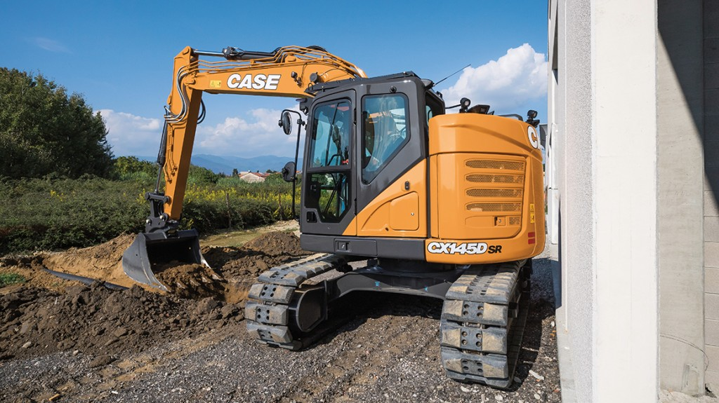A CASE CX145DSR excavator