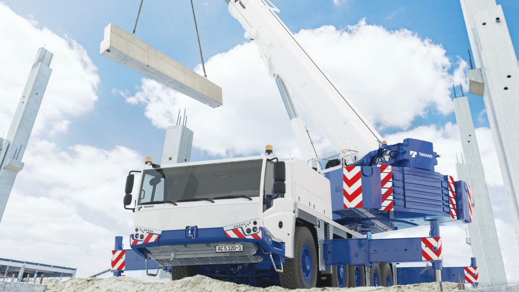 The AC 5.120-1 all-terrain crane working on the job site