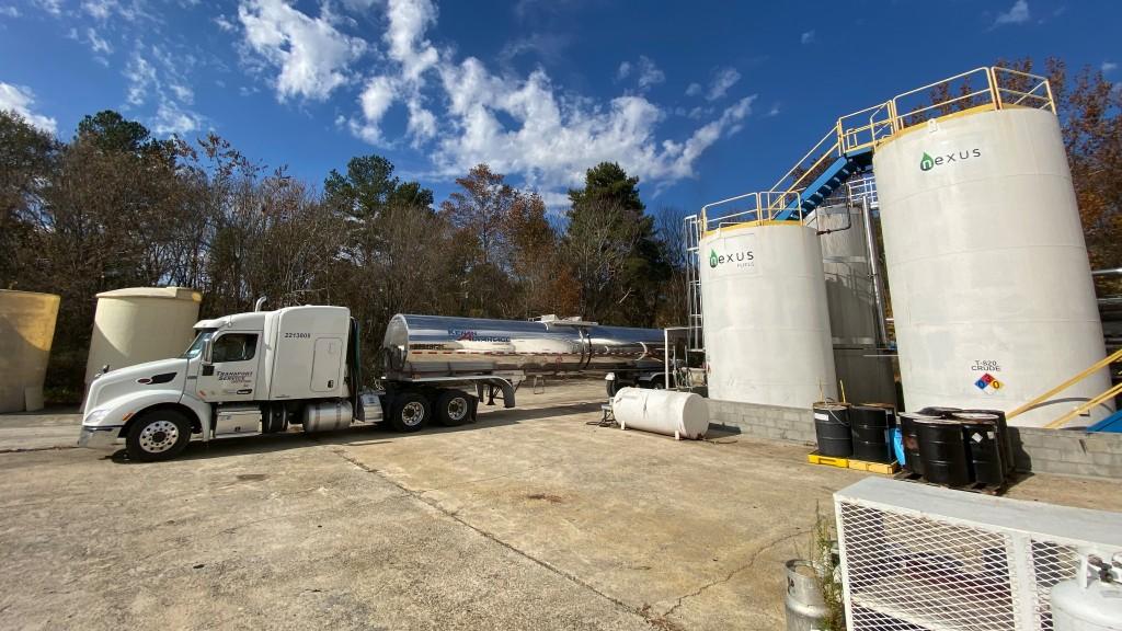 A Nexus truck fuels up