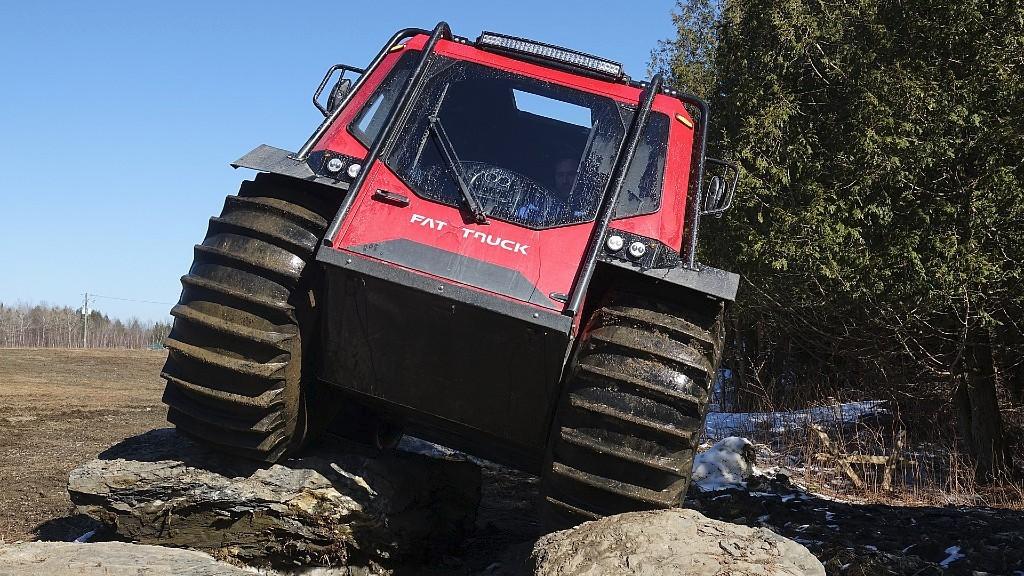 The Fat Truck amphibious vehicle