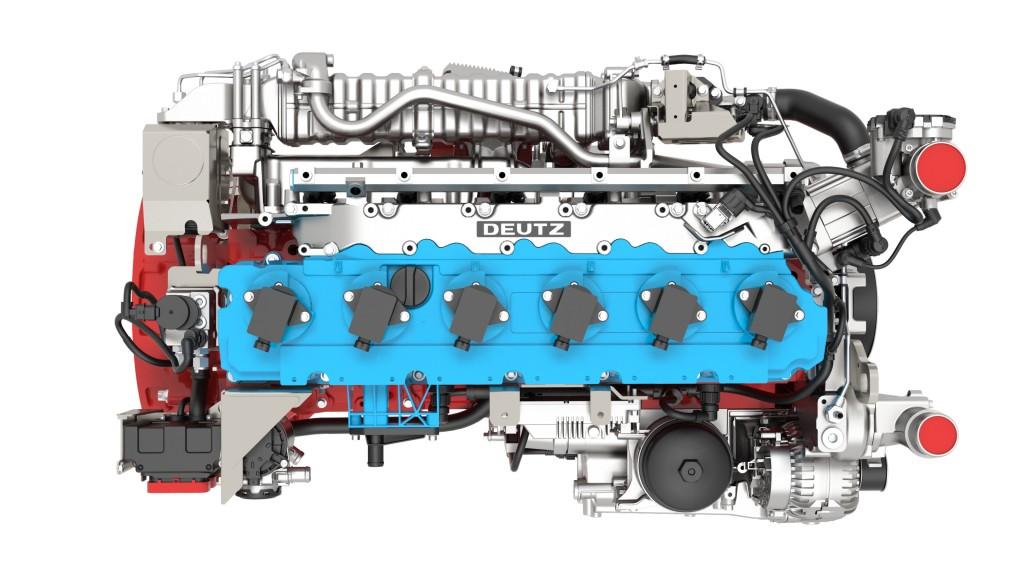 A TCG 7.8 H2 hydrogen engine