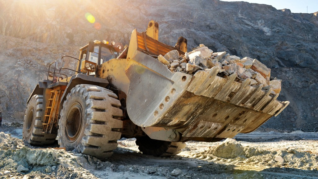 A wheel loader on the job site