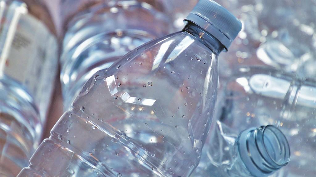 PET bottles closeup