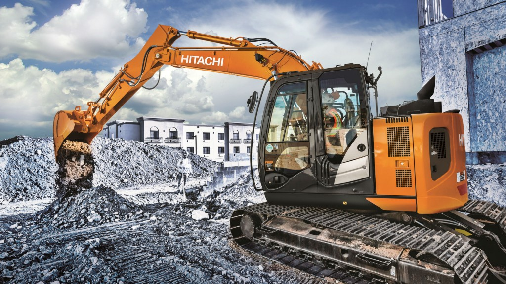 A Hitachi Wajax excavator on the job site
