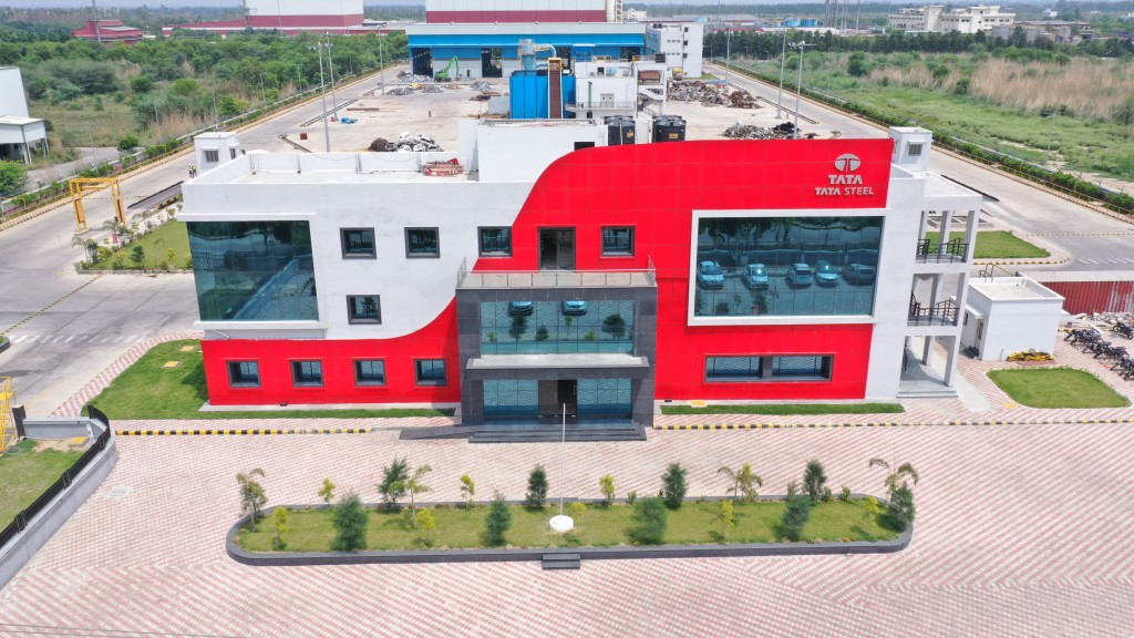 Tata Steel's steel recycling facility
