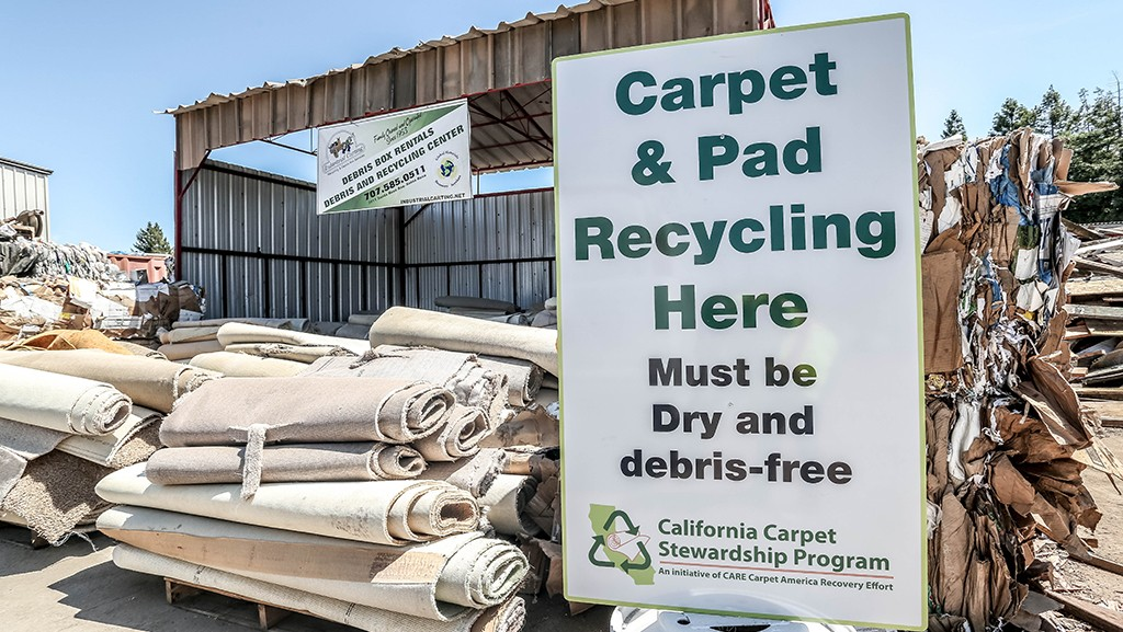 CARE carpet recycling depot and sign
