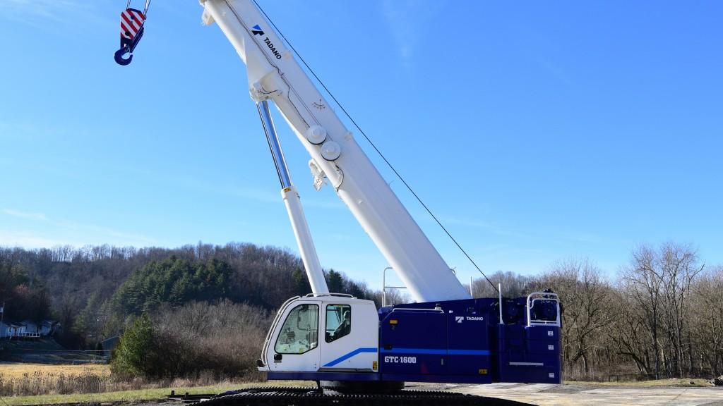 The GTC-1600 crawler crane
