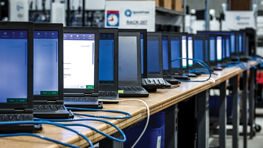 Laptops for reuse at Quantum LIfeCycle