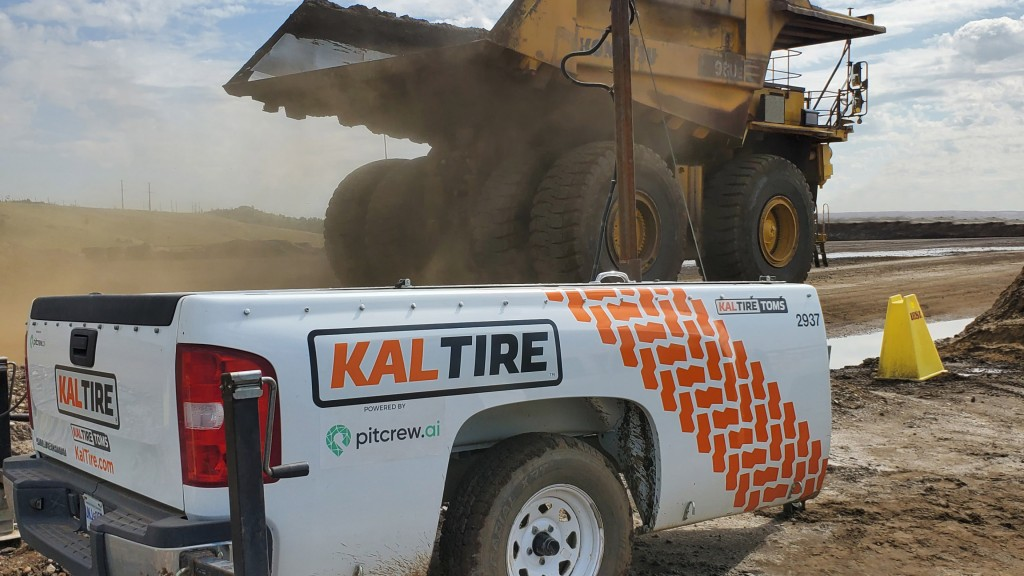 An autonomous inspection station monitors a haul truck