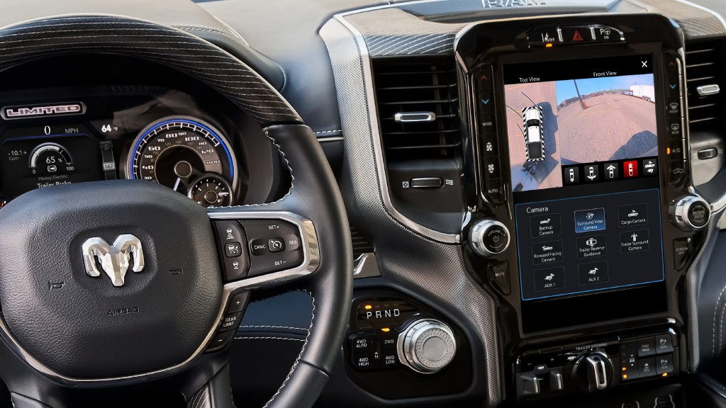 Trailering assist features are one of many updates that will benefit drivers using Ram's UConnect 5 system.