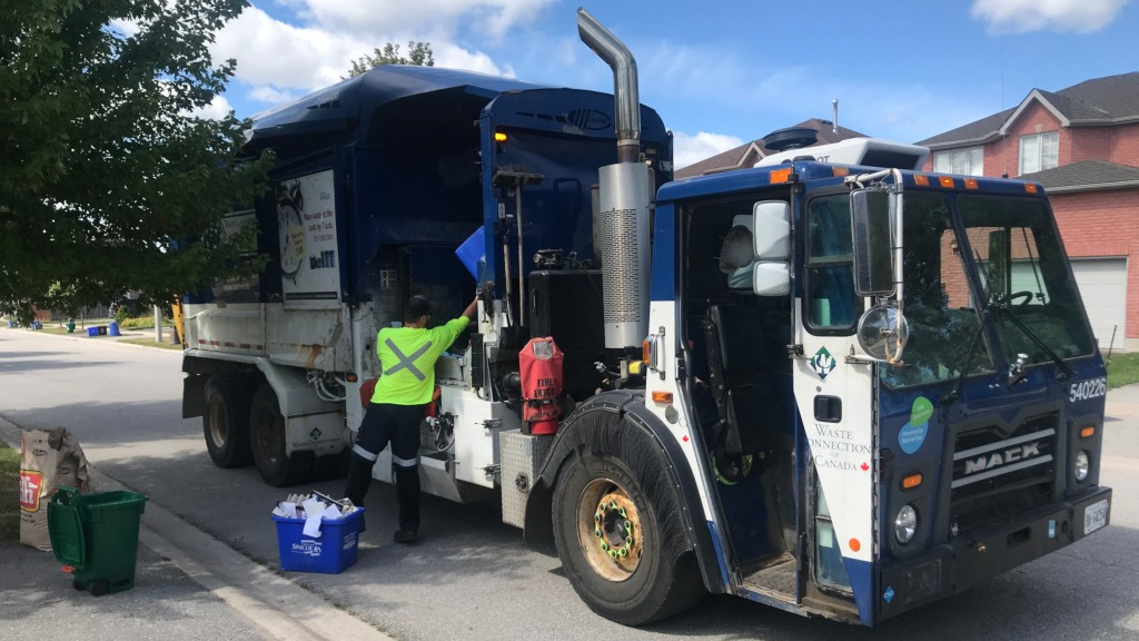 Waste Connections truck curbside