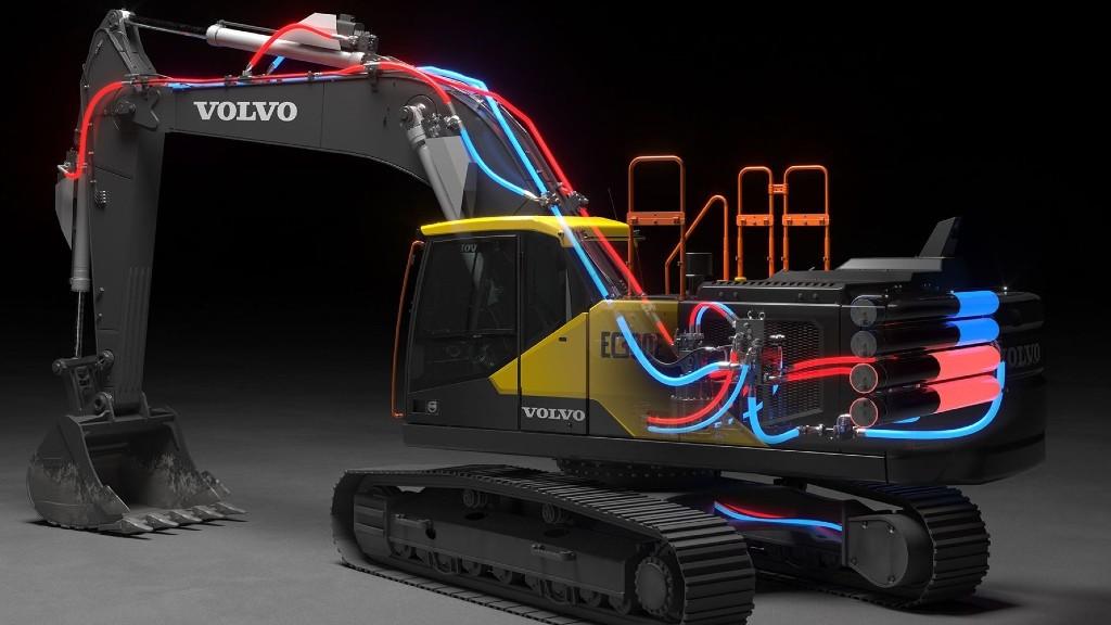 Volvo CE's EC300E excavator electro-hydraulic system