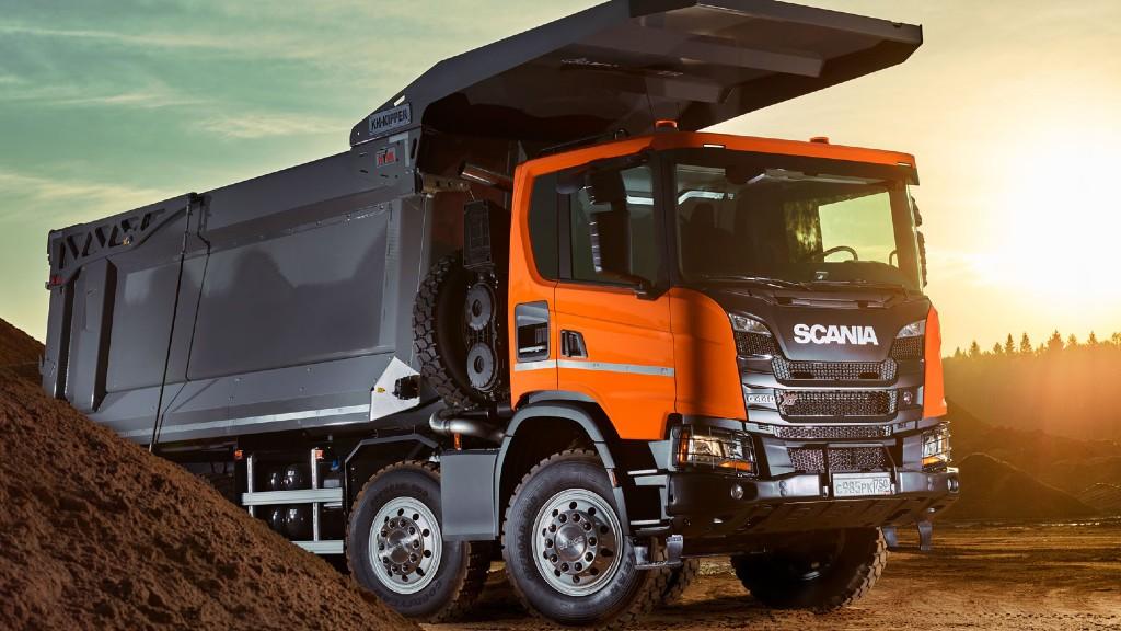 A Scania heavy tipper