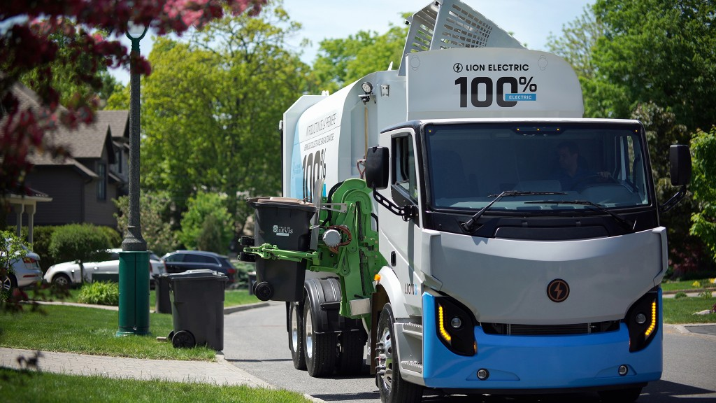 A Lion Electric vehicle performs curbside pickup