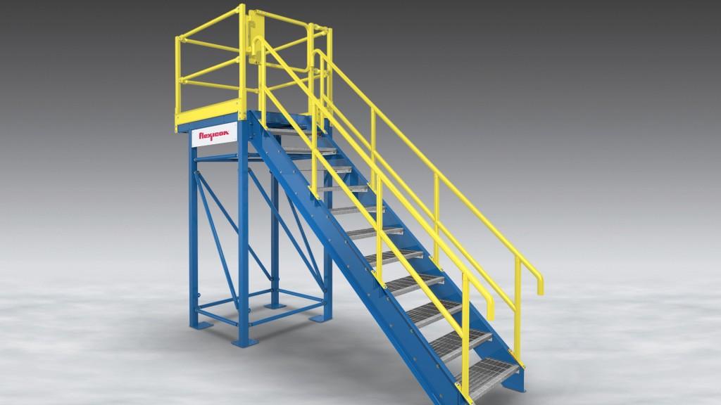 A Flexicon anti-slip access platform