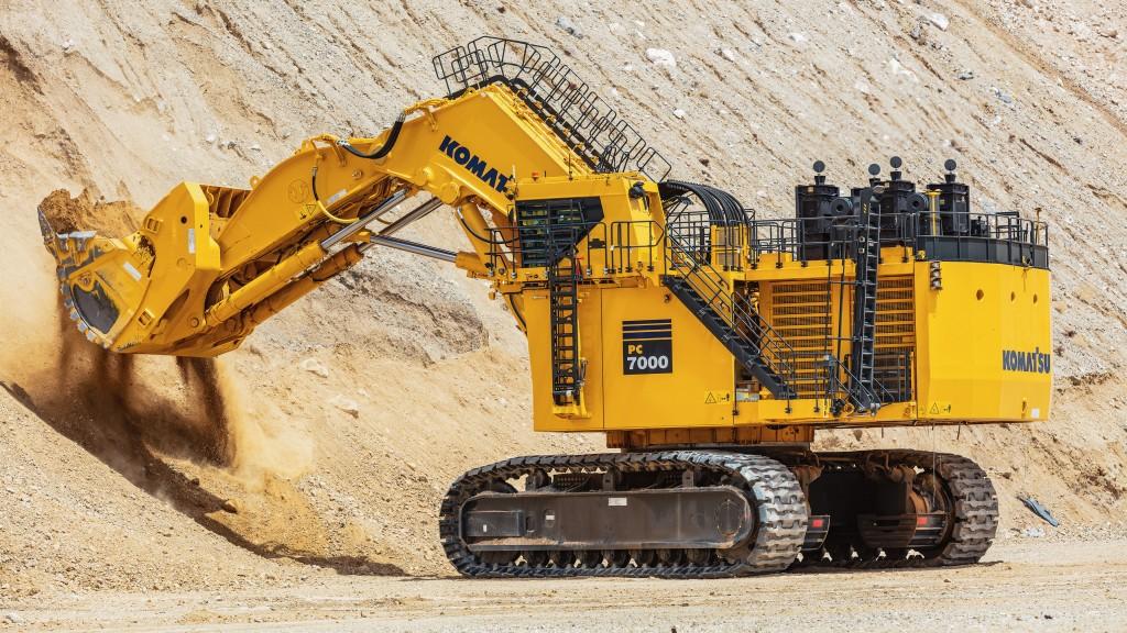 A PC7000-11 hydraulic excavator