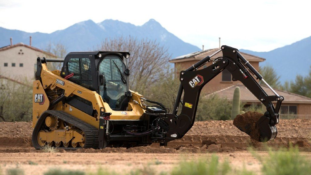 Cat compact track loader with BH130 backhoe attachment
