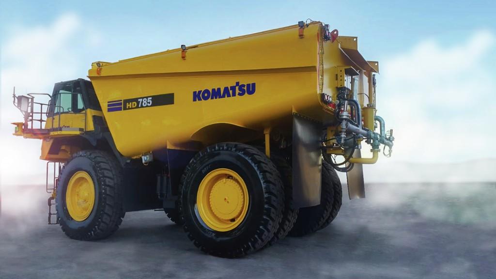 A concept Komatsu autonomous water truck